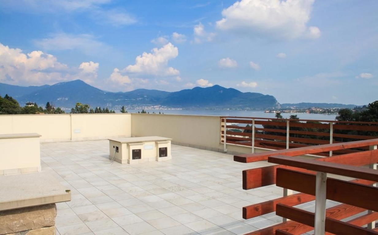 terrace with views of Iseo Lake