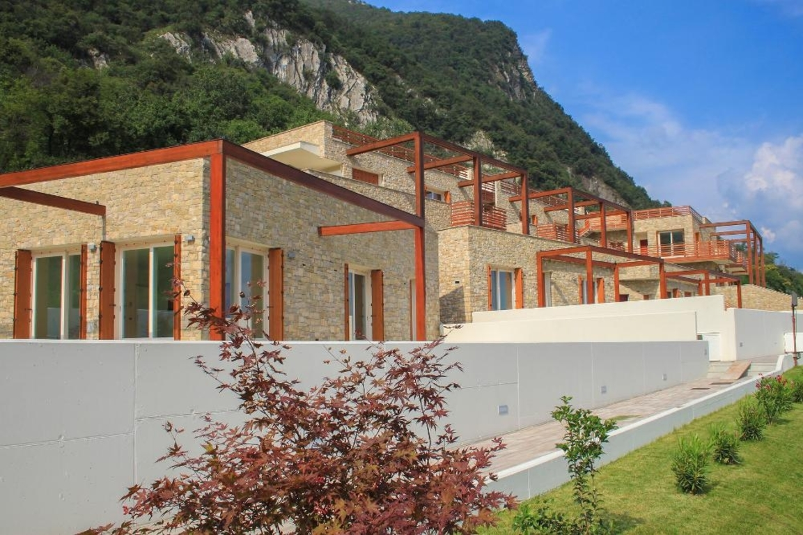 residential complex on the Iseo lake