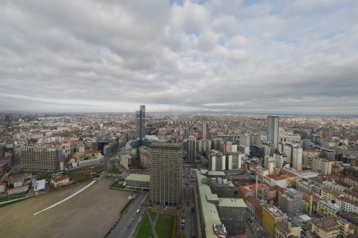 views of Milan from Solaria Tower