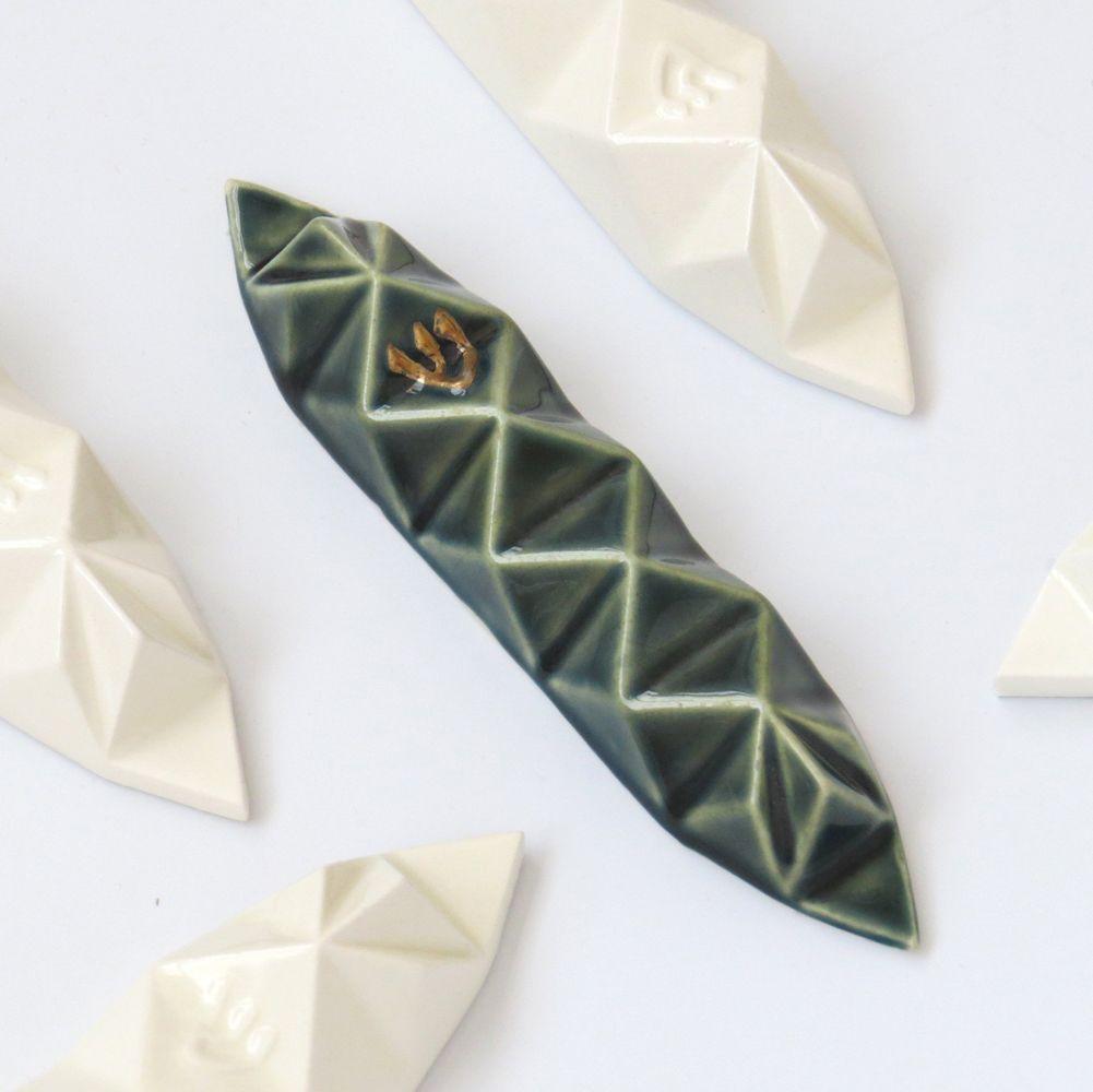 בית מזוזה אוריגמי בצבע ירוק