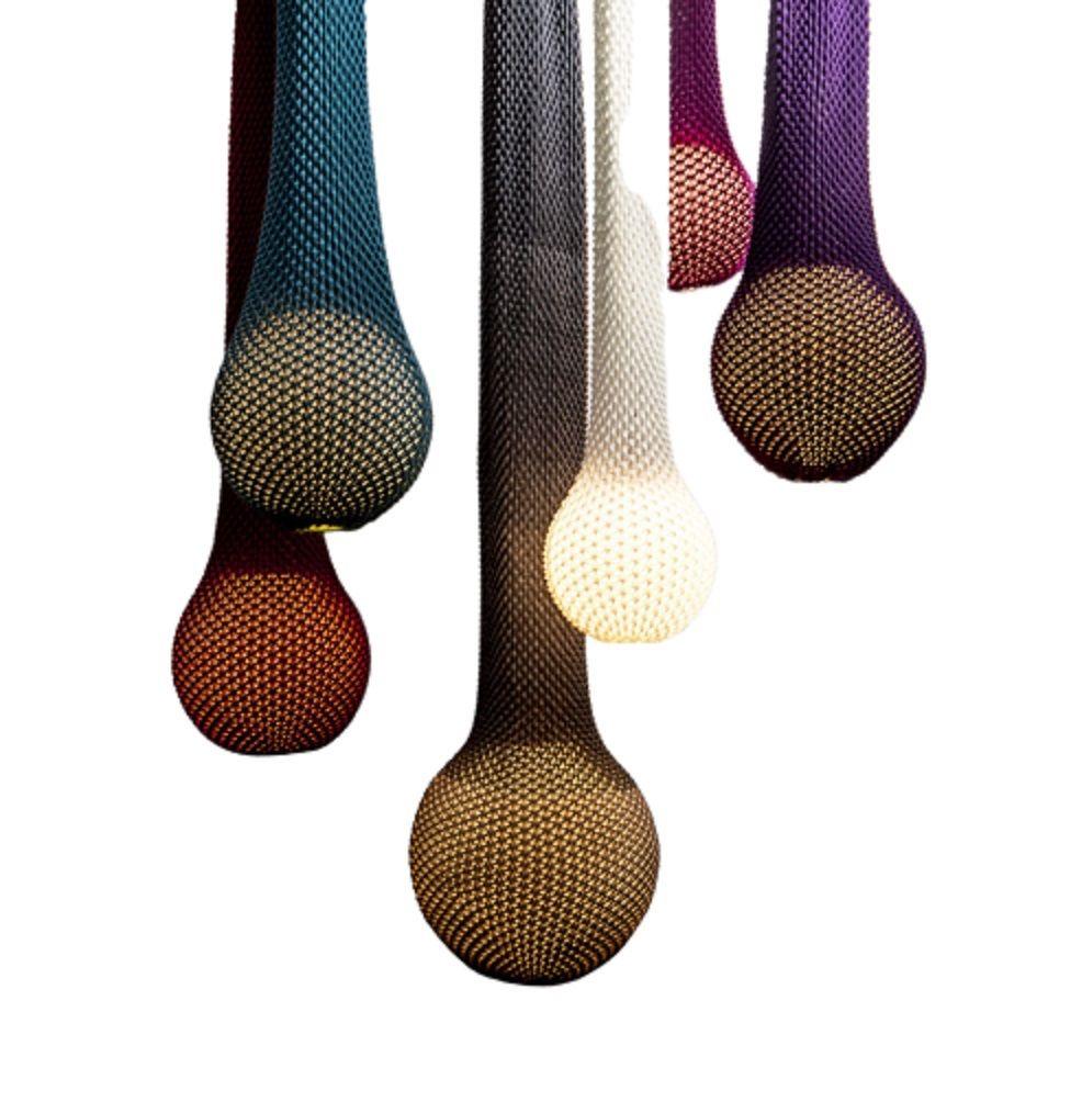 מנורה סרוגה תלויה בצבע חום