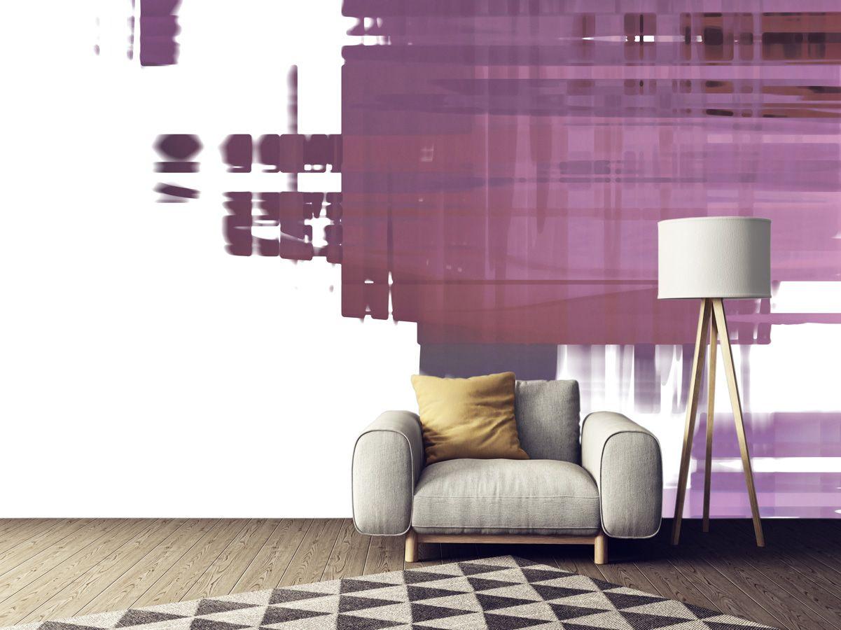 טפט מופשט לבית בצבעי סגול