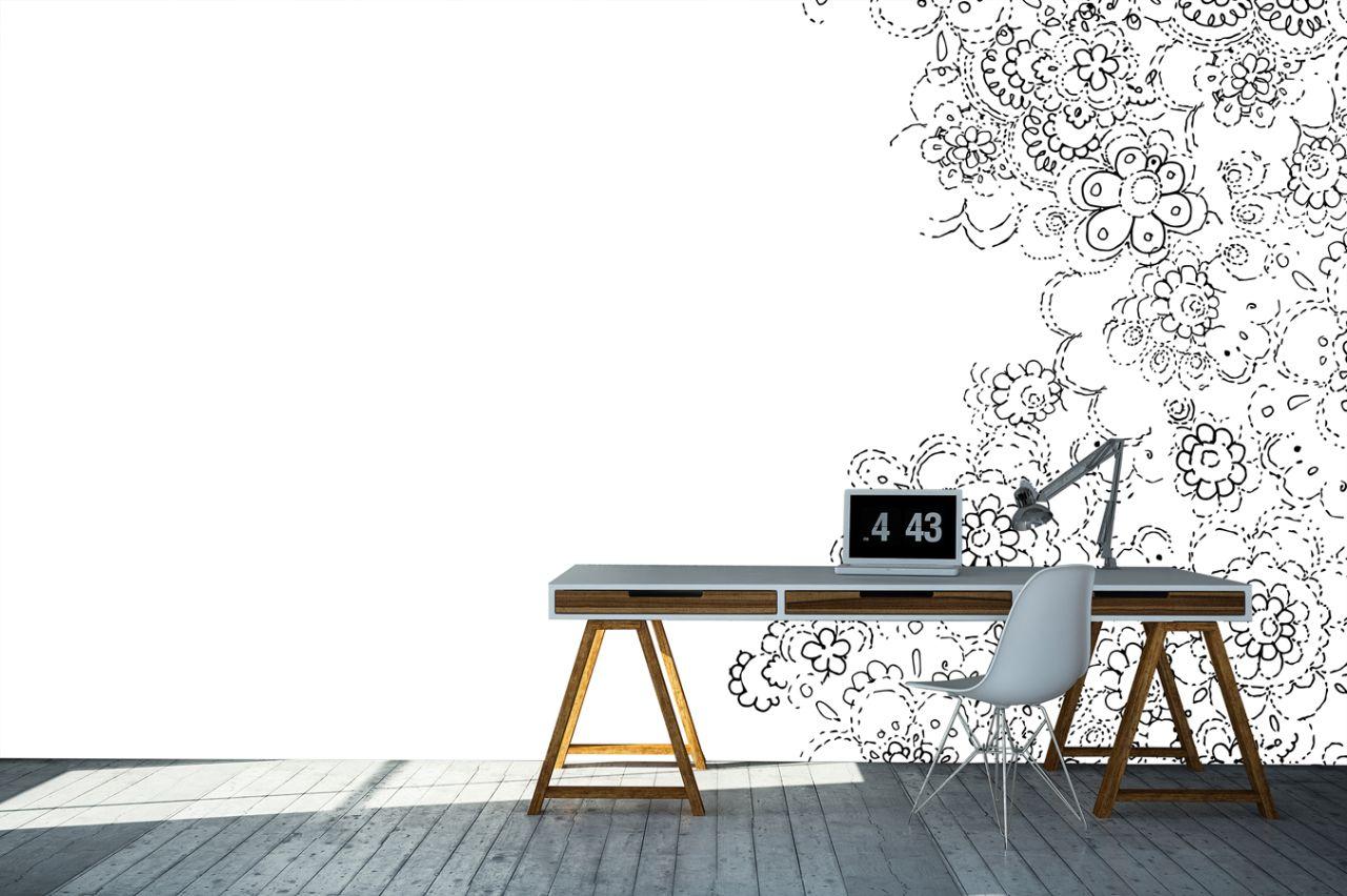 טפט פרחוני בעיצוב אישי