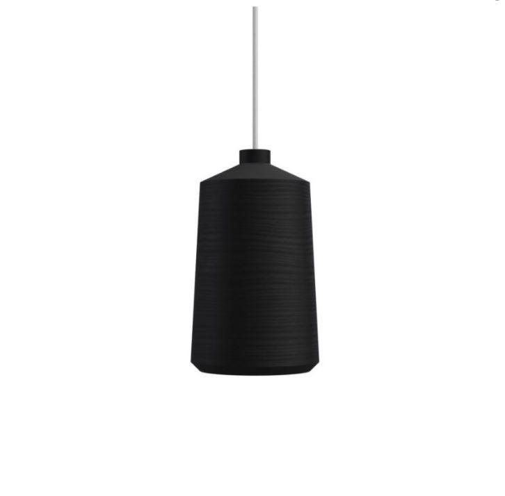 גוף תאורה תלוי FLAME בצבע שחור, כבל לבן