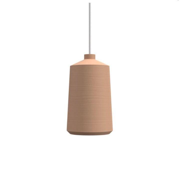גוף תאורה תלוי FLAME בצבע כתום, כבל לבן
