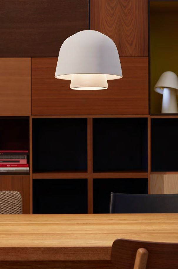 גוף תאורה תלוי okina בצבע חמרה, כבל שחור