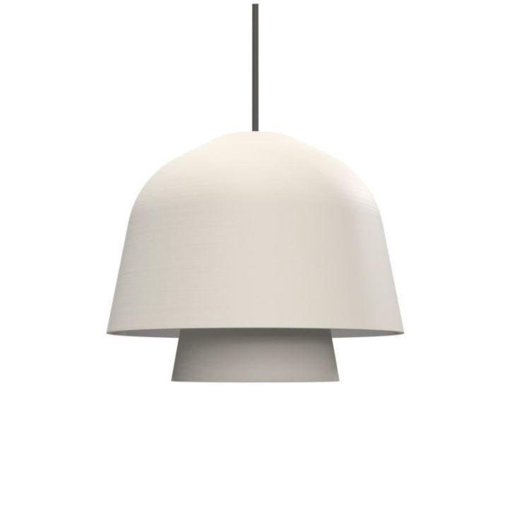 גוף תאורה תלוי okina בצבעלבן, כבל אפור.