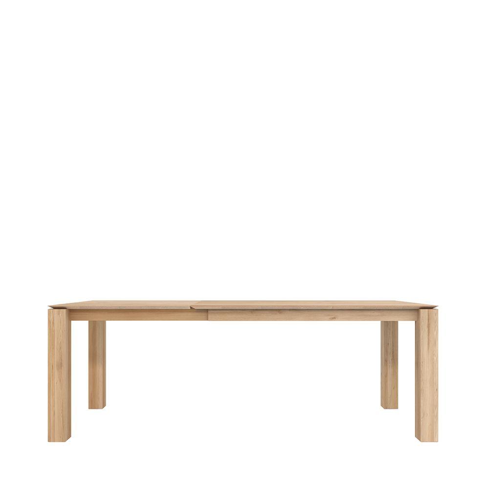 שולחן עץ טיק OAK DOUBLE EXTENDABL
