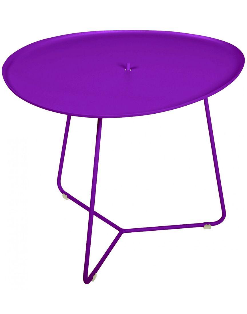 שולחן קפה לגינה Cocotte סגול