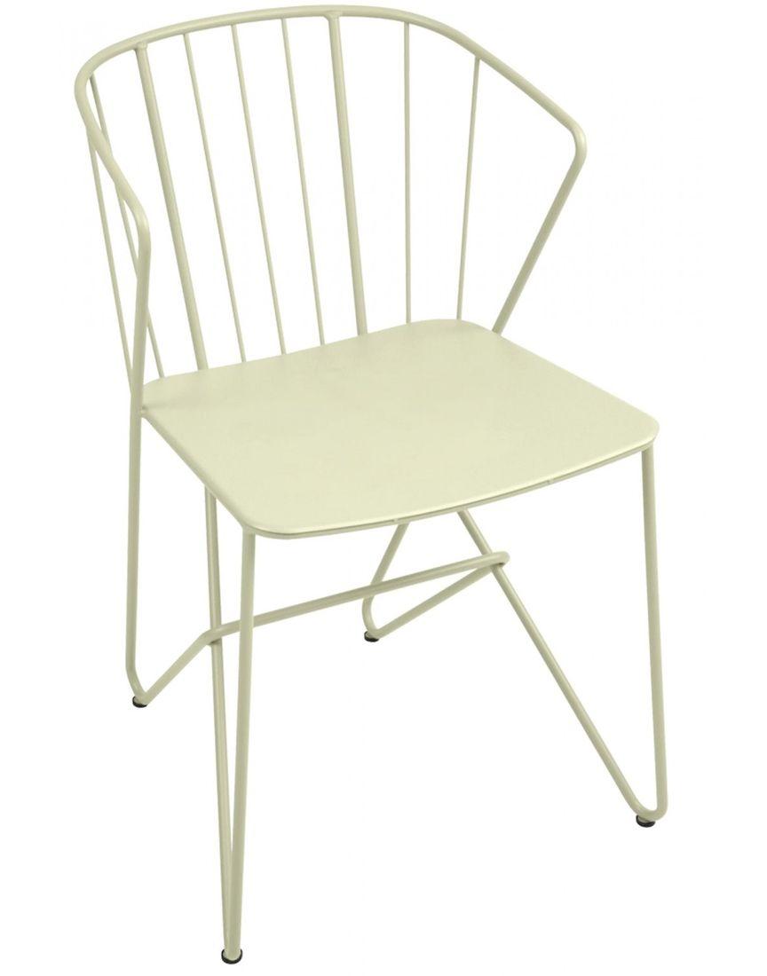 כסא אוכל לגינה Flower שמנת