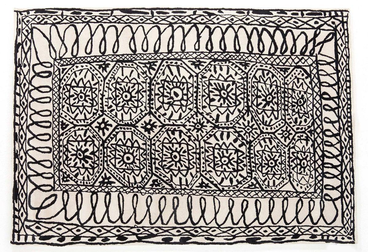 שטיח פאטרו שחור לבן ESTAMBUL