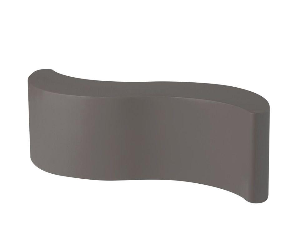 ספסל גינה מינימלסטי בצבע אפור