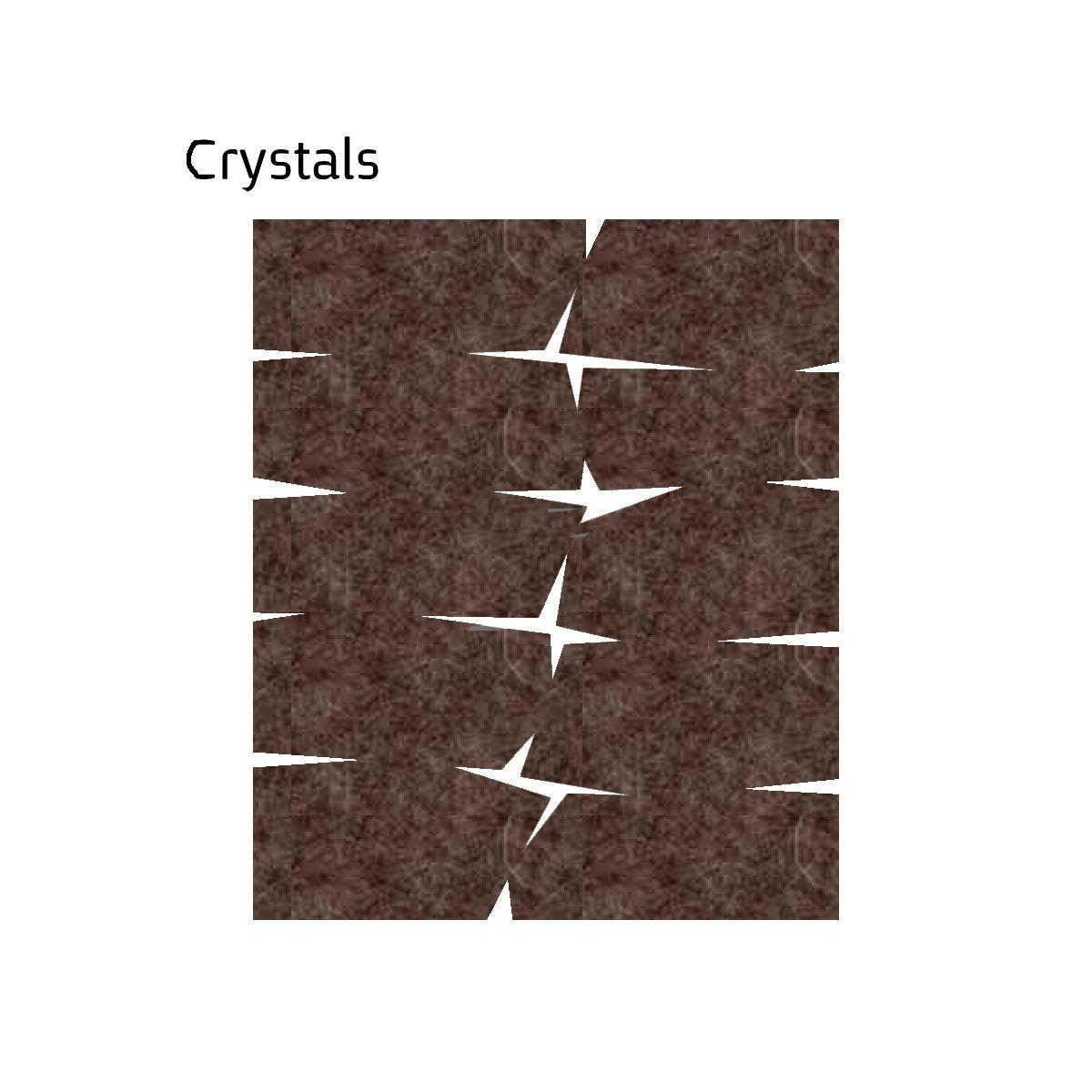 שטיח לבד בגון חום Crystals