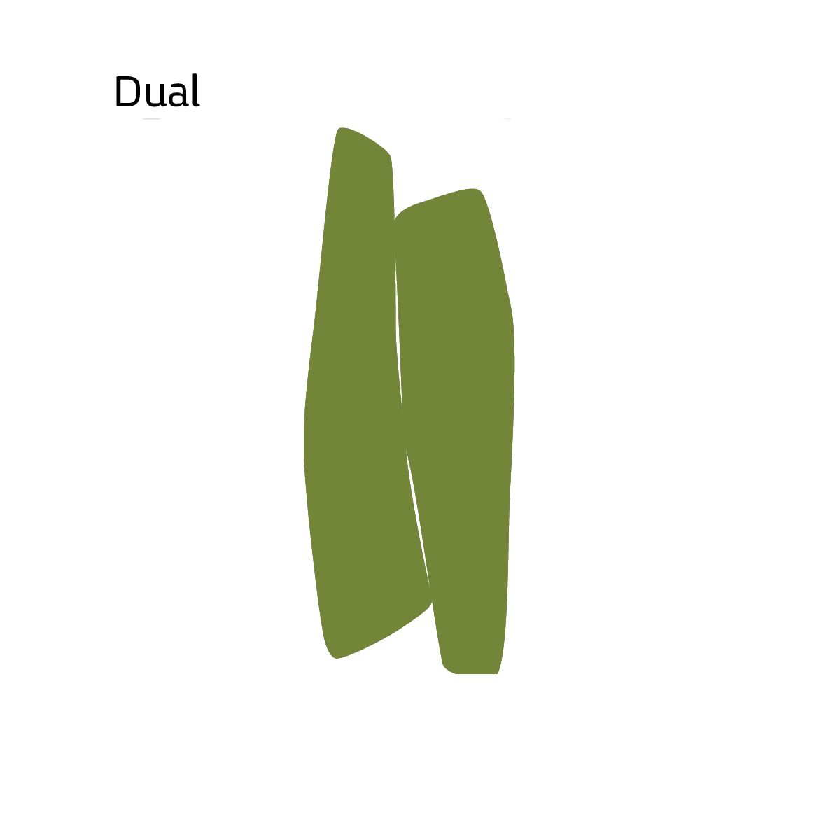 שטיח לבד בצבע ירוק Dual
