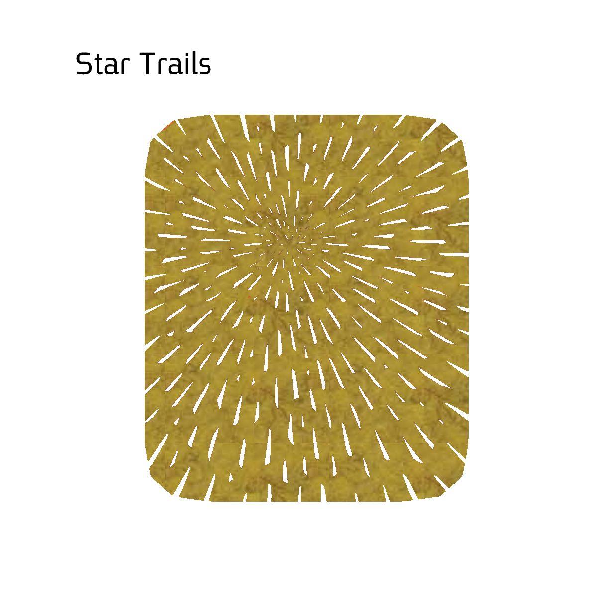 שטיח לבד STAR בצבע חרדל