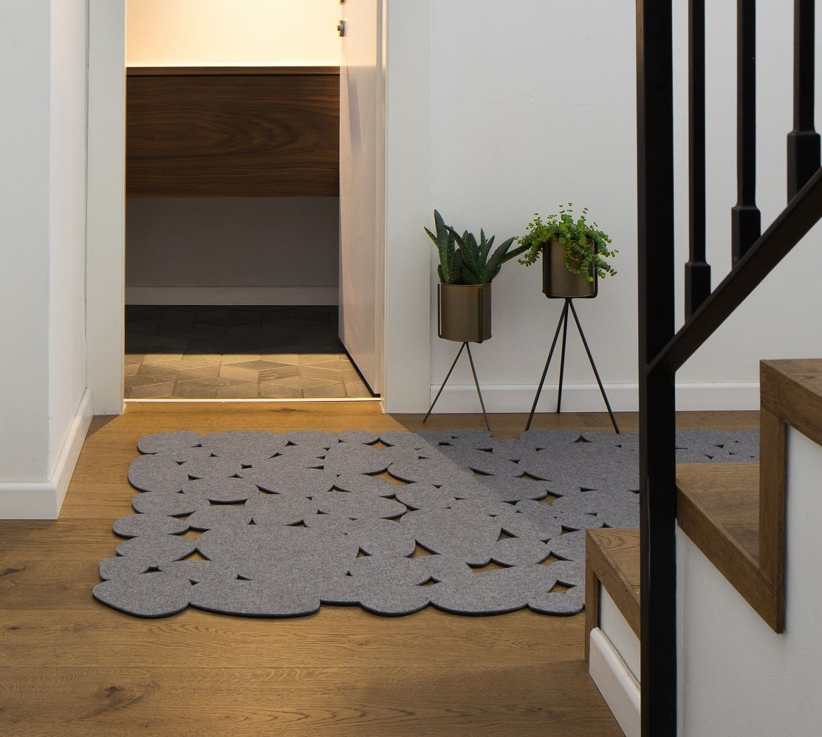 שטיח לבד Pebbles בצבע סגול