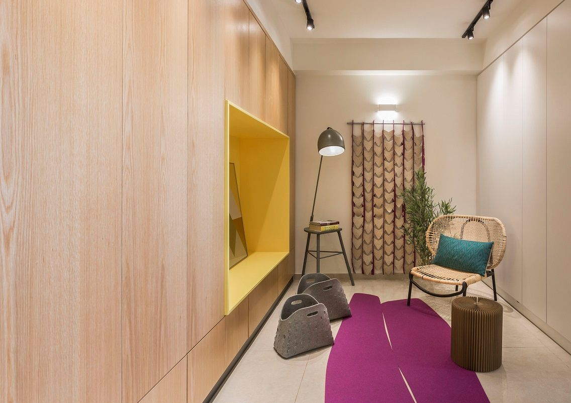 שטיח לבד בצבע חרדל Dual