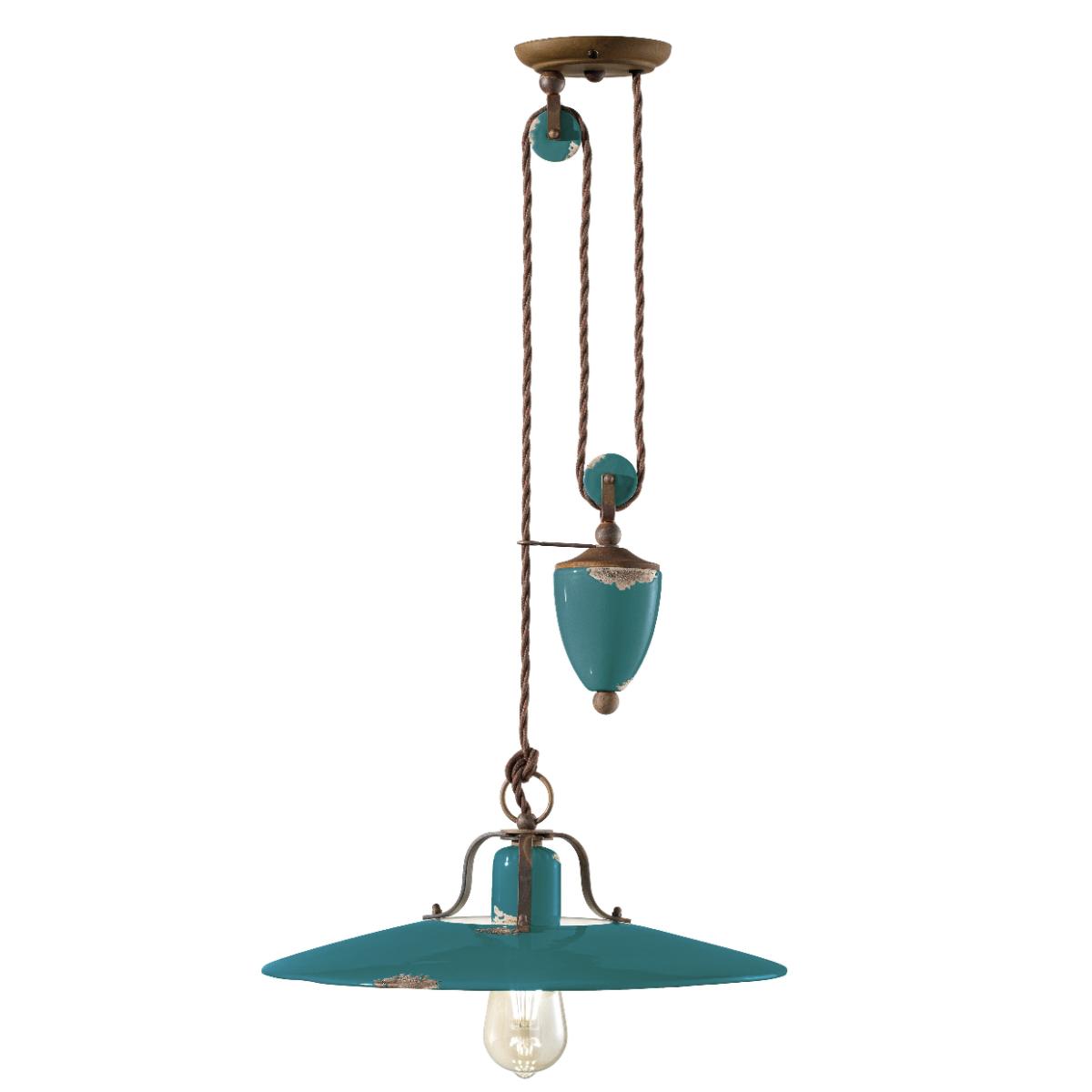 גוף תאורה בסגנון אורבני – בצבע טורקיז C-1446