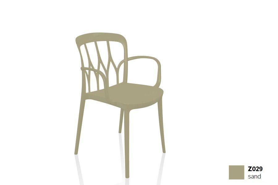 כסא פינת אוכל עם ידיות, בצבע חול Galaxy