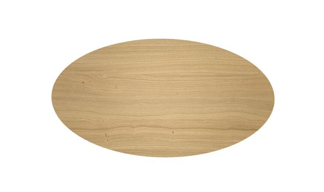 שולחן אוכל אובלי גלמורה גימור פורניר רגל מוזהבת