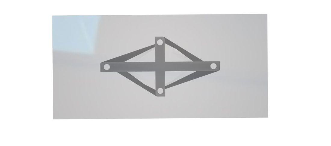 שולחן אוכל מילניום גימור זכוכית מעושנת רגל לבנה