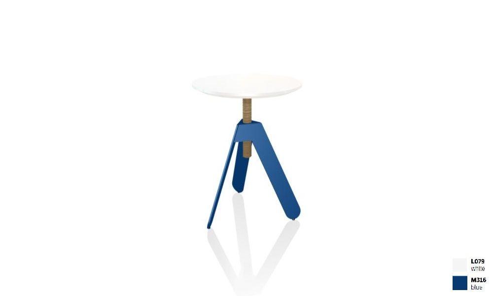 שולחן צד בשילוב לבן + כחול BASALTO
