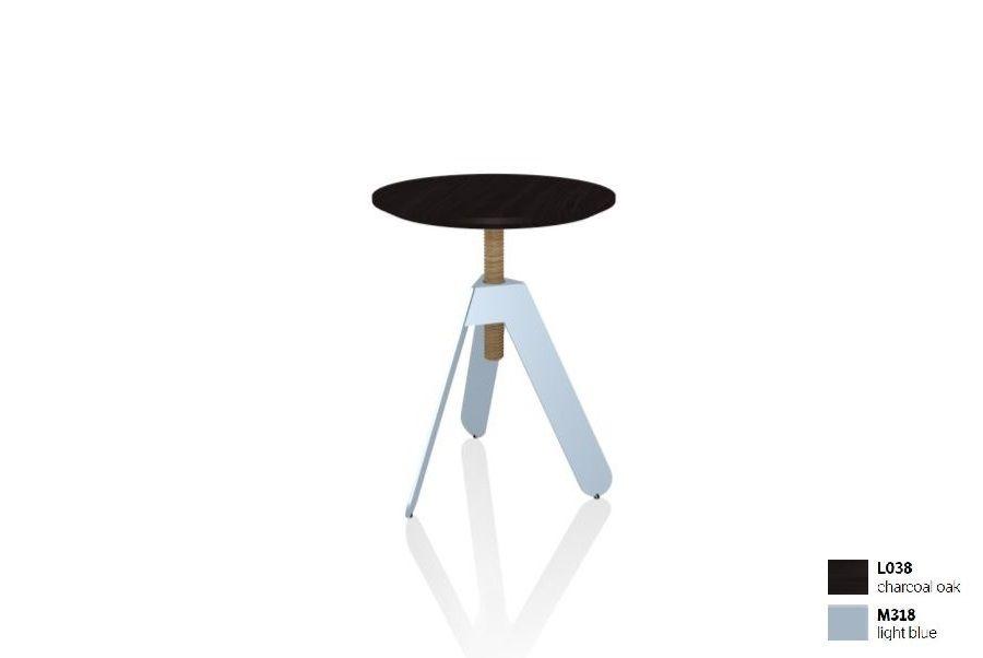 שולחן צד בשילוב שחור + תכלת BASALTO