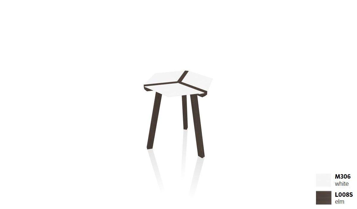שולחן צד בשילוב עץ + לבן ESA