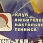 Спортивный клуб Клуб любителей настольного тенниса