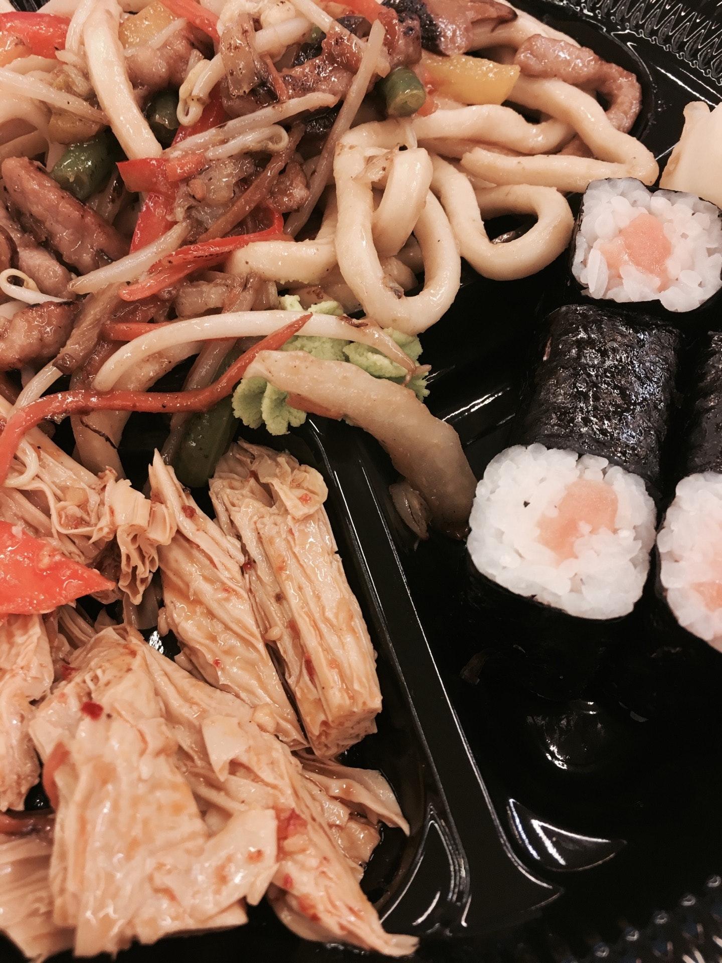 фото кухни суши на вынос войска городе, стороны