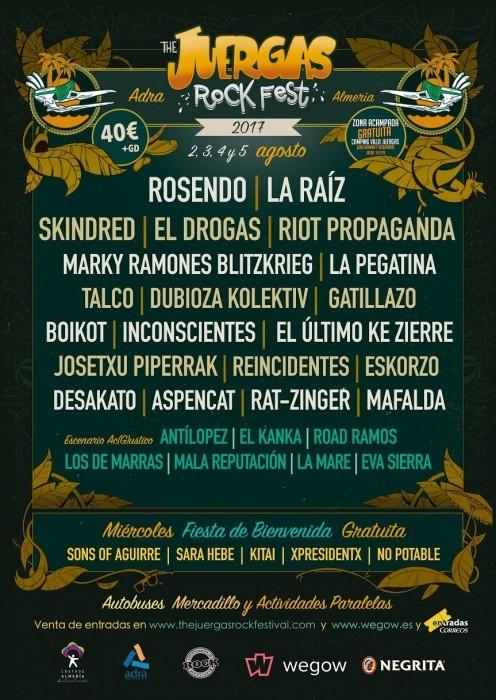 The Juerga\'s Rock Festival 2017. Cartel y Entradas.