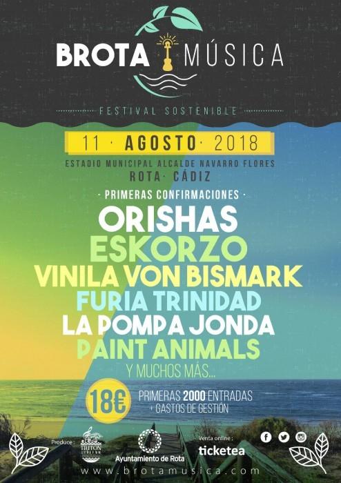 Brota Musica 2018. Cartel y Entradas.