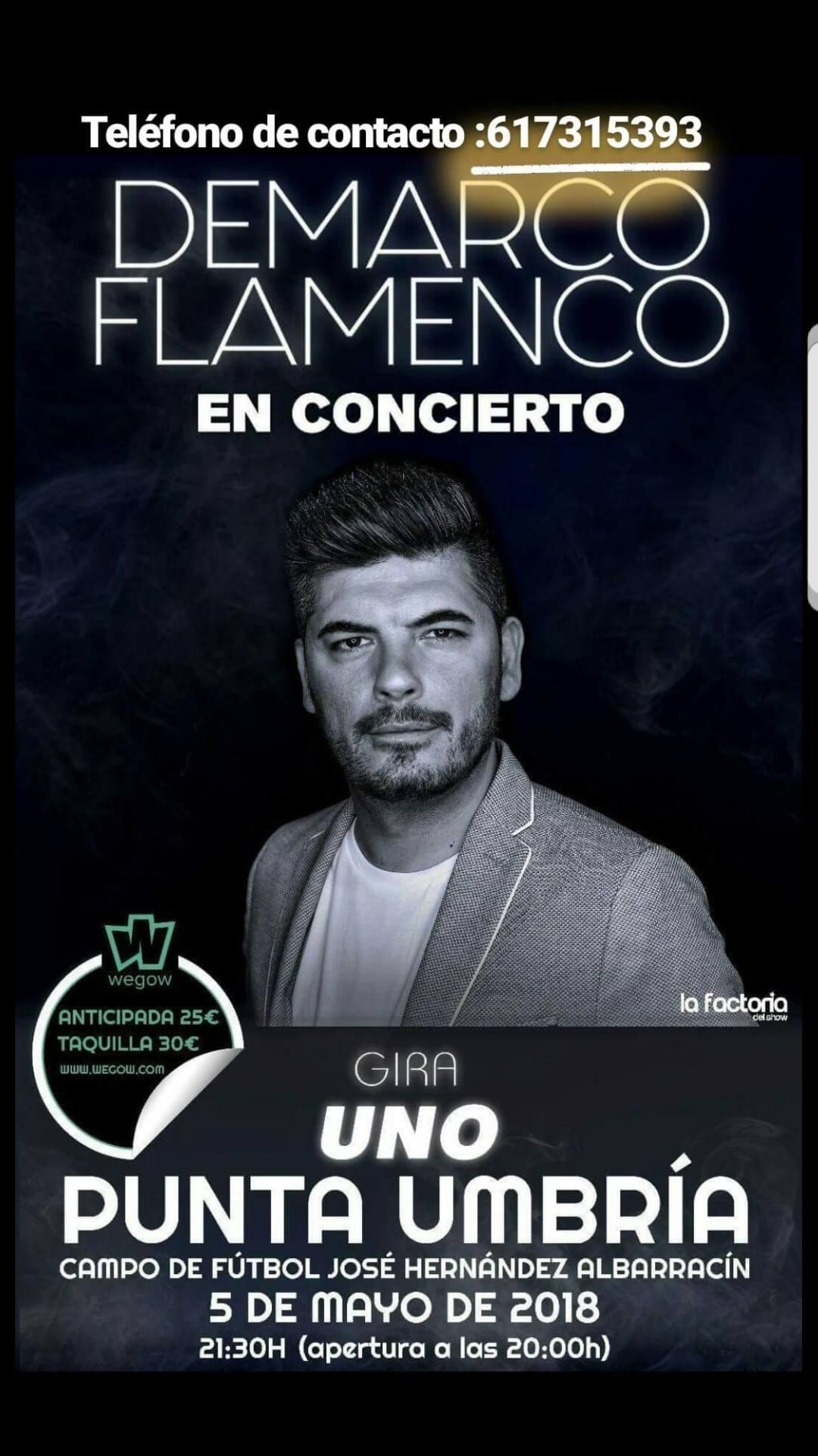 Concierto de Demarco Flamenco en Punta Umbría. Comprar Entradas.
