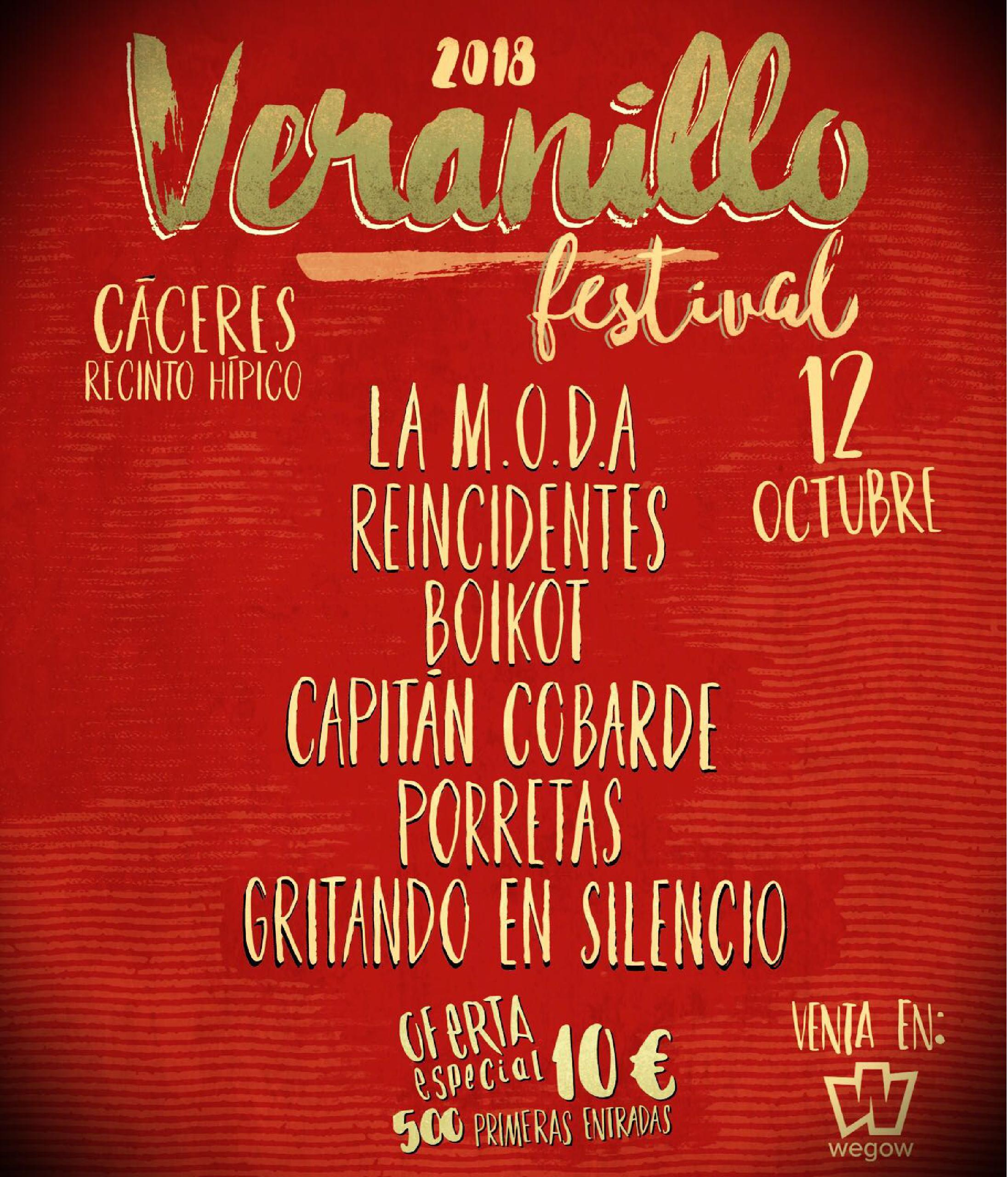 2c3f09400904 Veranillo Festival 2018. Comprar Entradas.