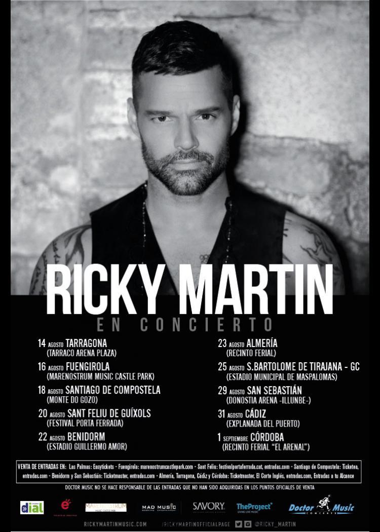 Concierto De Ricky Martin En Tarragona Comprar Entradas