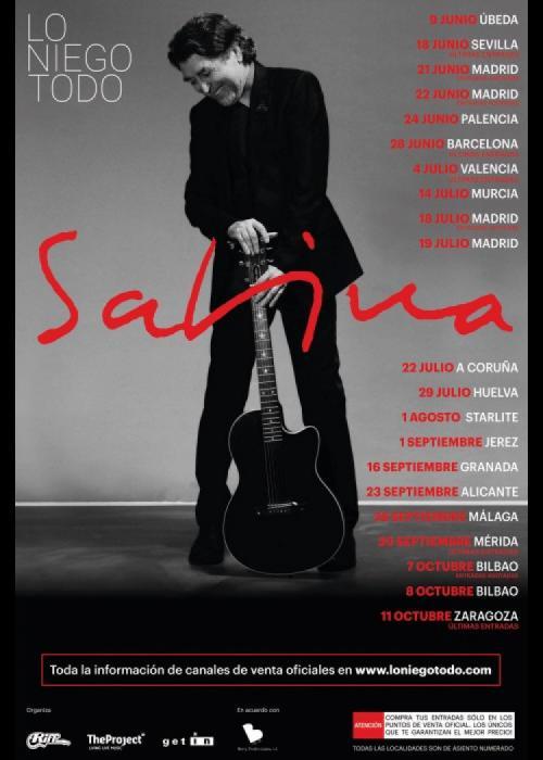 Cartel de Concierto de Joaquín Sabina en Granada