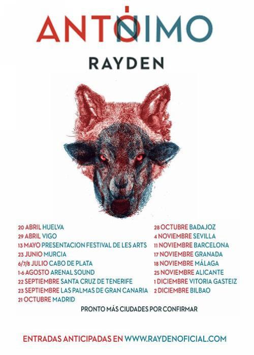 Cartel de Concierto de Rayden en Granada