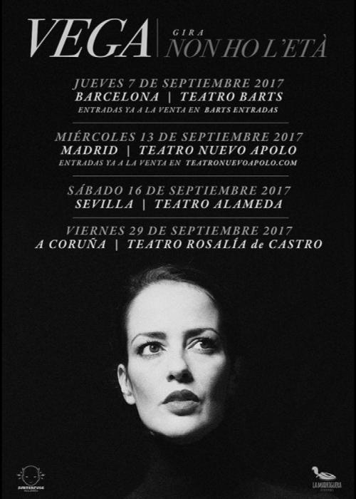 Cartel de Concierto de Vega en Barcelona