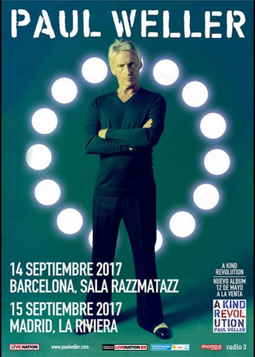 Cartel de Concierto de Paul Weller en Barcelona