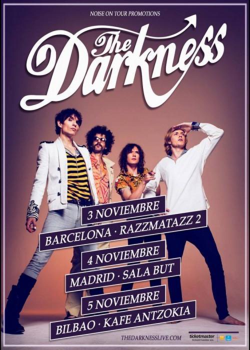 Cartel de Concierto de The Darkness en Bilbao