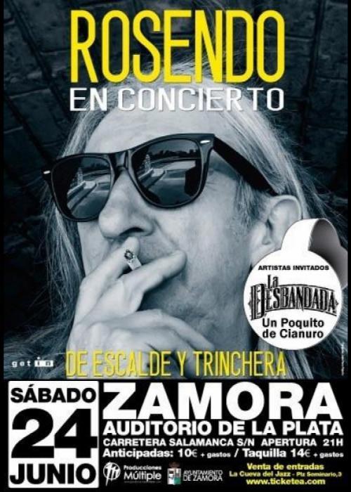 Rosendo aplaza a julio su concierto en Zamora
