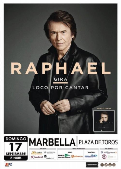 Concierto de raphael en marbella comprar entradas for Conciertos madrid hoy