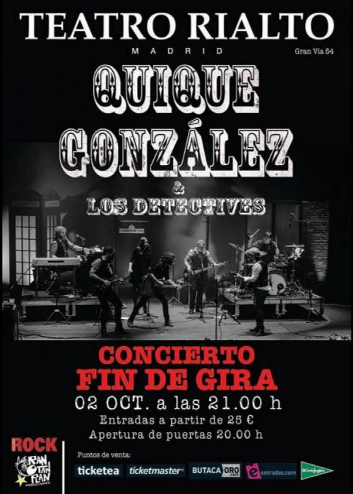 Concierto de quique gonz lez en madrid comprar entradas for Quique gonzalez madrid
