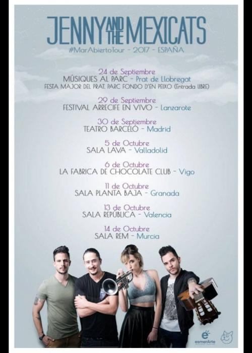 Cartel de Concierto de Jenny and the Mexicats en Granada