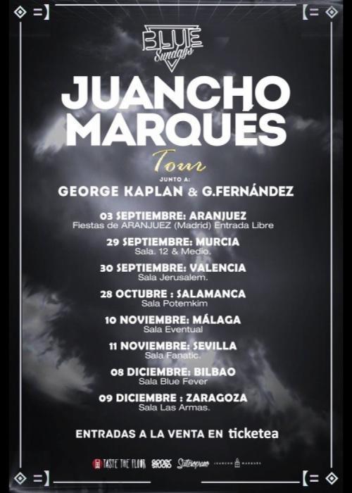 Cartel de Concierto de Juancho Marqués en Granada
