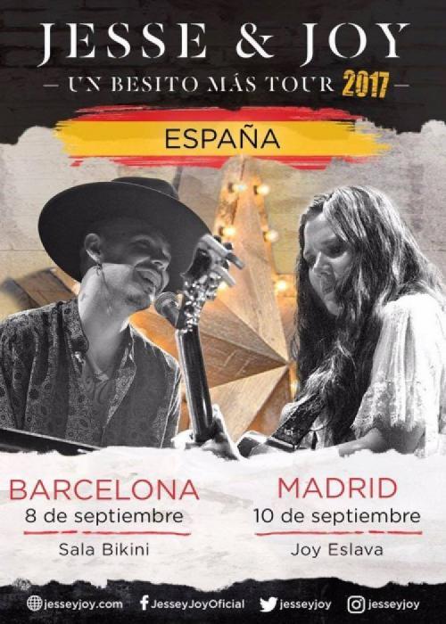 Cartel de Concierto de Jesse & Joy en Barcelona