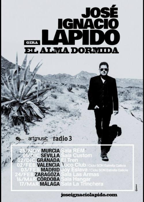 Cartel de Concierto de José Ignacio Lapido en Granada