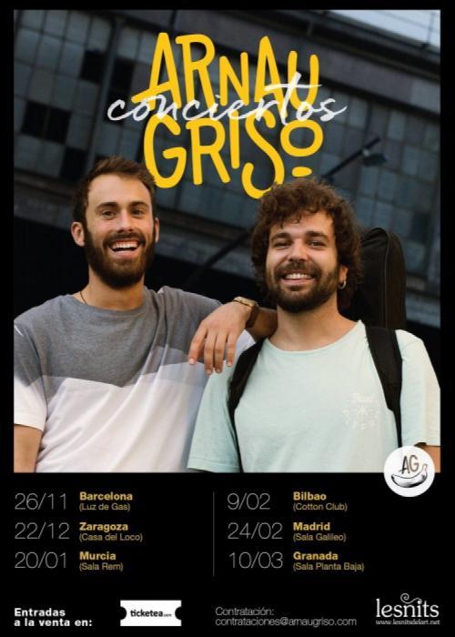 Cartel de Concierto de Arnau Griso en Granada