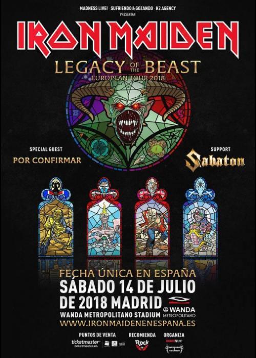 Cartel de Concierto de Iron Maiden en Madrid