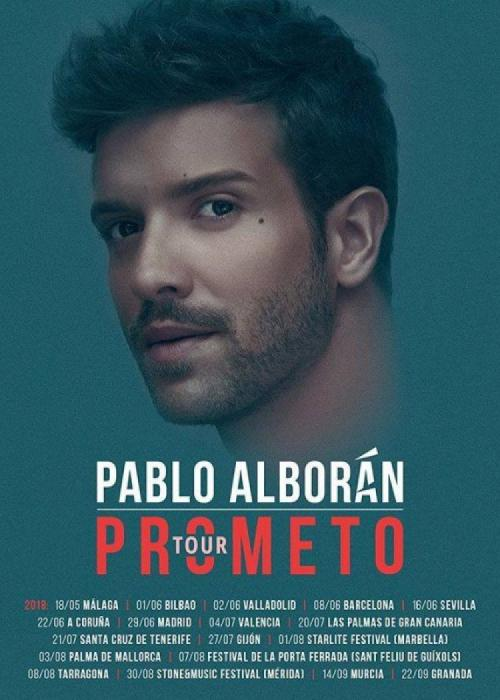 Cartel de Concierto de Pablo Alborán en Granada